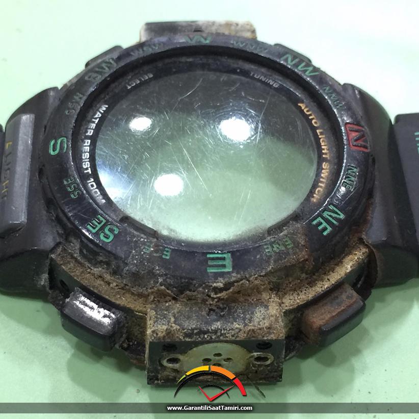 Casio PRG-40 Ultrsonik Saat Temizliği